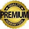 Quality Premium Guaranteed seal graphic